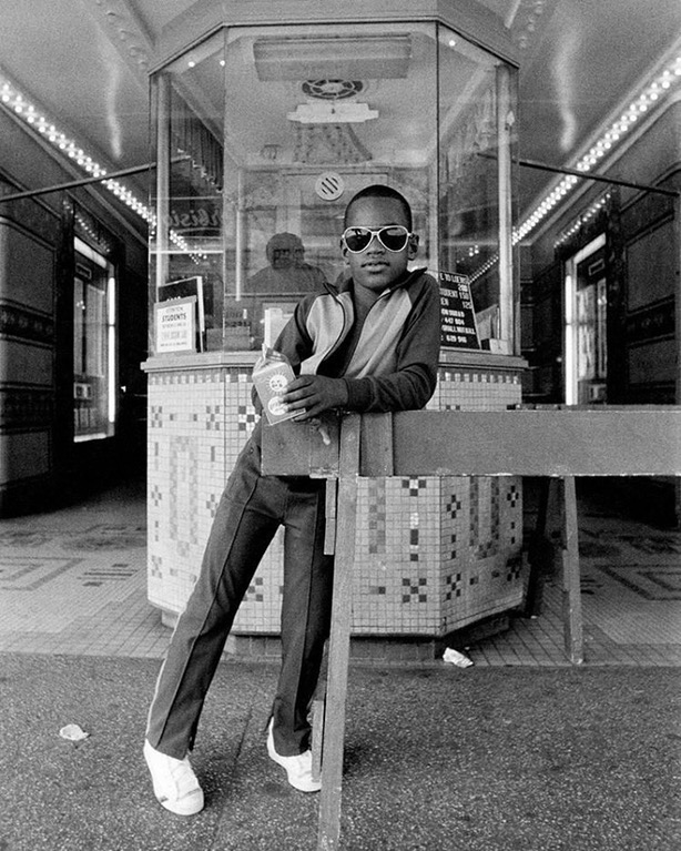 A snapshot of historical fashion, Harlem, 1970s.